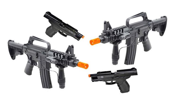 Rifle e pistola de airsoft